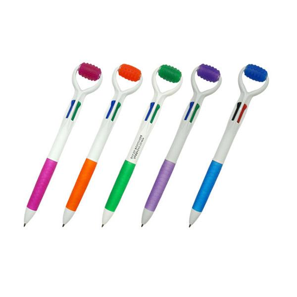 맛사지 4색 볼펜
