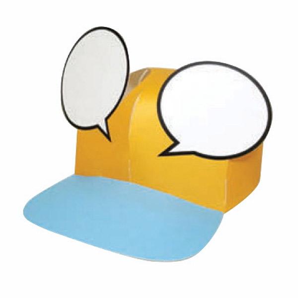 컬러링 모자 만들기_말풍선 모자 (10개 1세트)